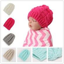 Новорожденный ребенок hat, вязания крючком, детские девушки шапочка hat Новорожденных экипировка Зима теплую шапку Ручной 1 шт. H831
