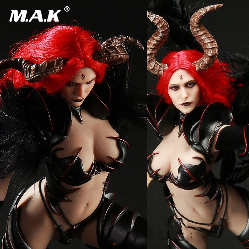цена 1:6 Lucifer Of Fallen LXF1701 Witch Armor Clothes and Head Model normal Version Collectible Action Figure Doll онлайн в 2017 году