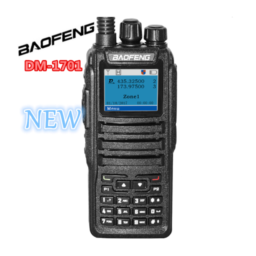 Baofeng DM 1701 Dual Band Tier I II DMR Analog Digital Two Way Radio 136 174MHz