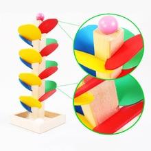 Деревянный Дерево мраморный шар бегать игра трек для маленьких детей интеллект Монтессори образовательная игрушка головоломки подарок на день рождения