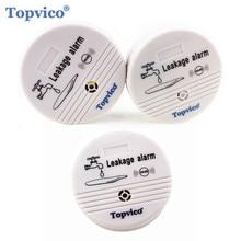 Topvico 3pcs מים דליפת חיישן אזעקת גלאי 90dB קול אלחוטי מים דליפת גלאי בית בטיחות אבטחת בית אזעקה מערכת