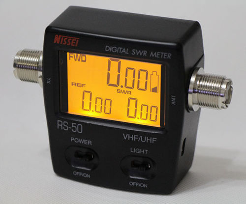 NISSEl RS-50 Digital SWR & Power Meter 125-525 Mhz UHF/VHF For 2 Way Radios new style nissel rs 70 digital swr