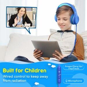Image 2 - Mpow CH6 Wired Crianças Fones De Ouvido Ajustável Com Fio Fone De Ouvido Com 3.5mm De Áudio Jack E Microfone Para Crianças Para iPod