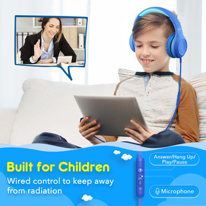 Image 2 - Mpow CH6 Wired Kids Headphones Foldable Adjustable Wired Headphone With 3.5mm Audio Jack And Microphone For Children For iPod