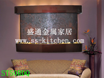 Featherstone water walls Metal Crafts of Wall Water Fountains/Fengshui Waterfall/Water Features/wall mounted water crafts gifts image