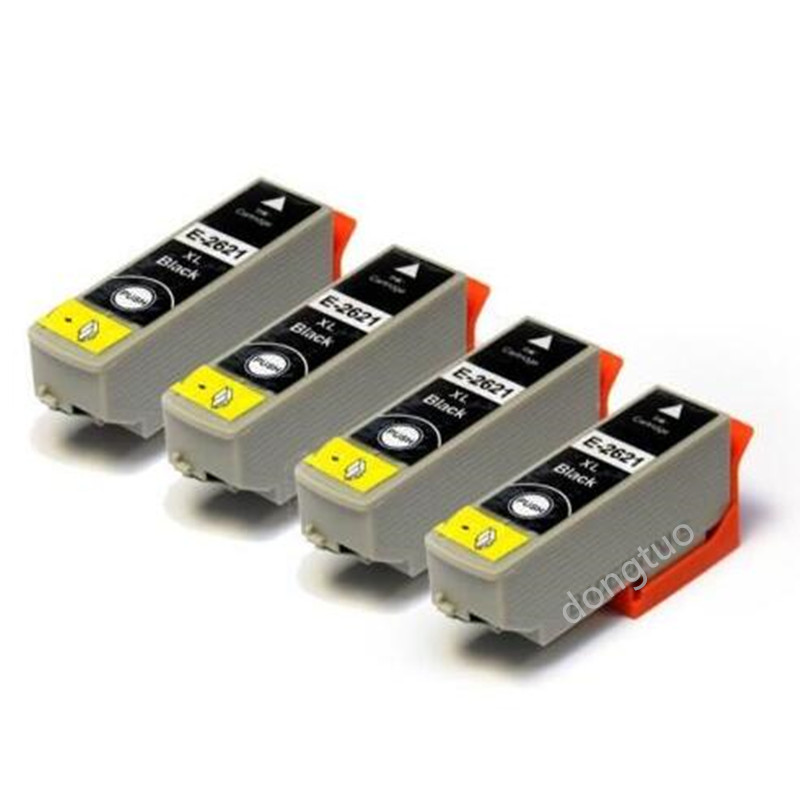 4x T2621 black Ink Cartridge for epson xp820 XP600 XP605 xp600 xp800 xp700 printer