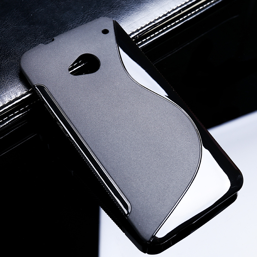 1 Pc/lot S Line Soft TPU Case Silicone Fitted Shell Housing Hood For HTC ONE M8 M8s M8x Black - intl
