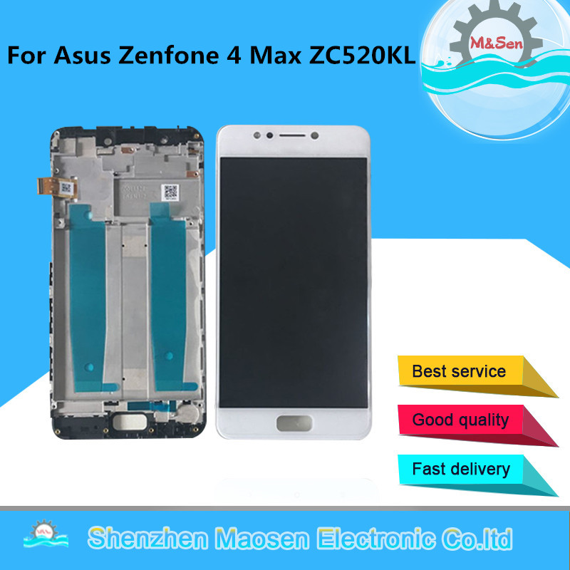 M&Sen For 5.2 Asus Zenfone 4 Max ZC520KL X00HD LCD screen display+touch panel digitizer with frame for zenfone 4 max ZC520kl