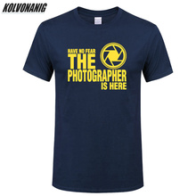 Have No Fear The Photographer Is Here Funny Letter Print T-Shirt Fashion 2019 Streetwear Mens Gift Clothing Oversized Tee Shirt