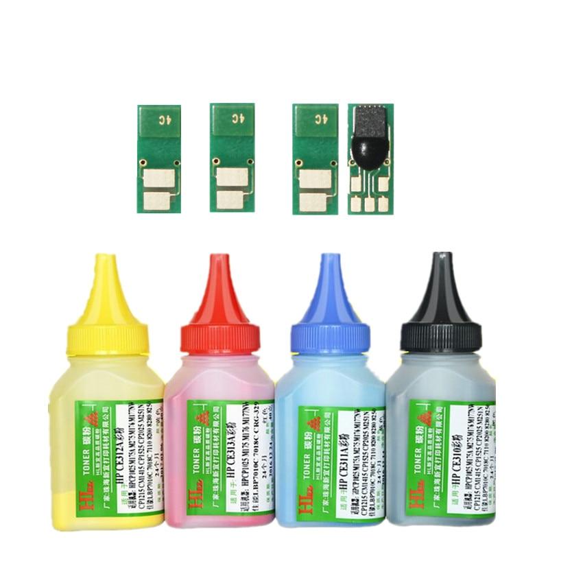 4color Refill toner Powder + 4 chip for HP CF410A Color LaserJet Pro M452dn M452dw M452nw MFP M377dw M477fdn M477 printer(China)