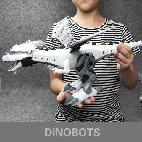 robo com som claro dinossauros mecanicos modelo brinquedos para criancas