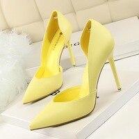 Женские туфли-лодочки, модные туфли на высоком каблуке, черные, розовые, желтые туфли, женские свадебные туфли
