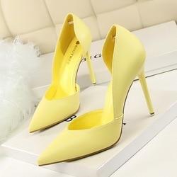 Mulheres Bombas de Moda Sapatos de Salto Alto Preto Amarelo Cor de Rosa Mulheres Sapatos de noiva Sapatos de Casamento Das Senhoras