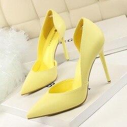 Mulheres bombas de moda sapatos de salto alto preto rosa amarelo sapatos femininos sapatos de casamento nupcial senhoras