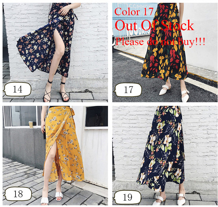 Boho Asymmetrical Chiffon Maxi Long Skirts 25