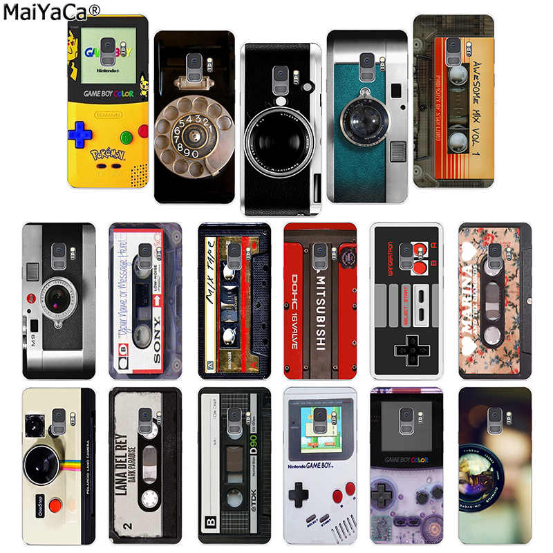 MaiYaCa Mode retro mix kassette band volumen Kamera kamera telefon fall für samsung galaxy S4 6 7 Rand 8 9 s6 rand PLUS 8 9plus