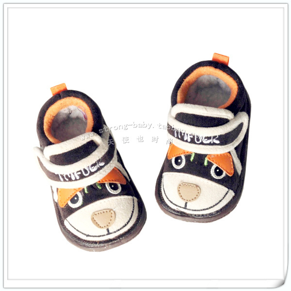 Smiley cartoon winter soft outsole toddler shoes male shoes winter thermal 1 - 2 years old