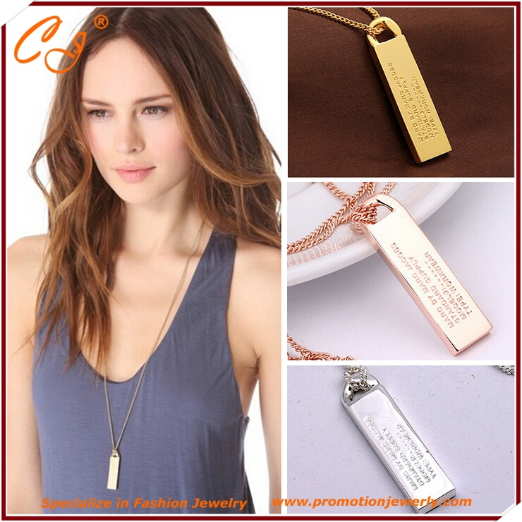 product Europe and the United States big jewelry contracted 14 k gold plated necklace female is necessary article Fashion design