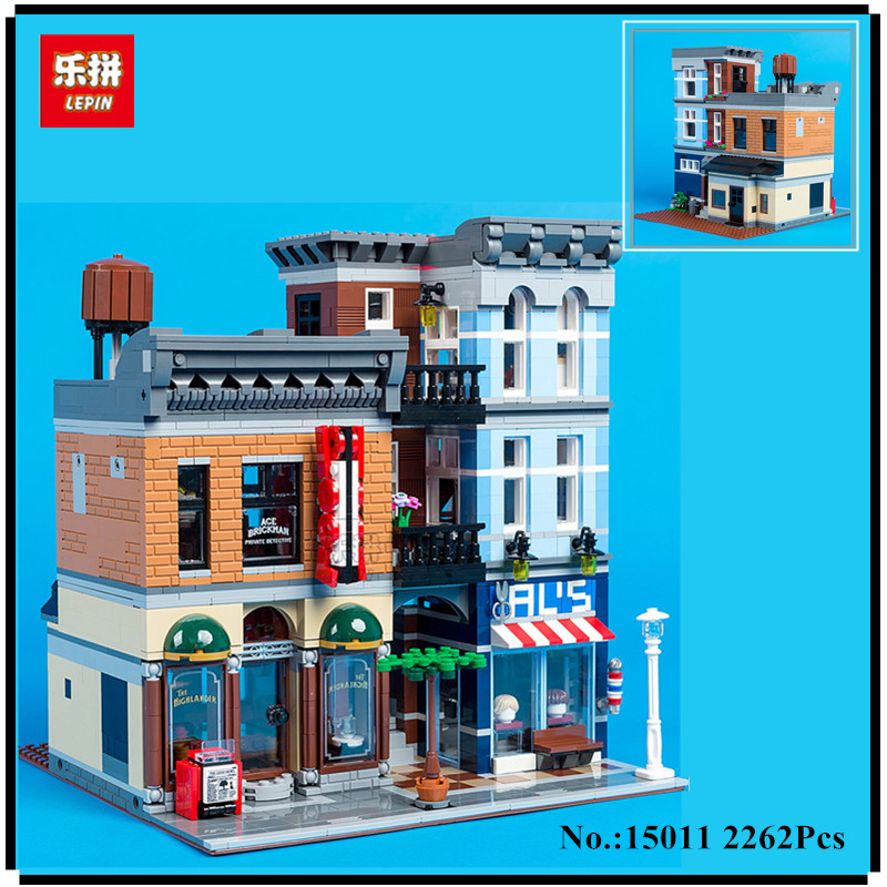 цена на IN STOCK Lepin 15011 2262Pcs Creator Expert City Street Detective's office Avengers Set Assemble Building Blocks Children Toys