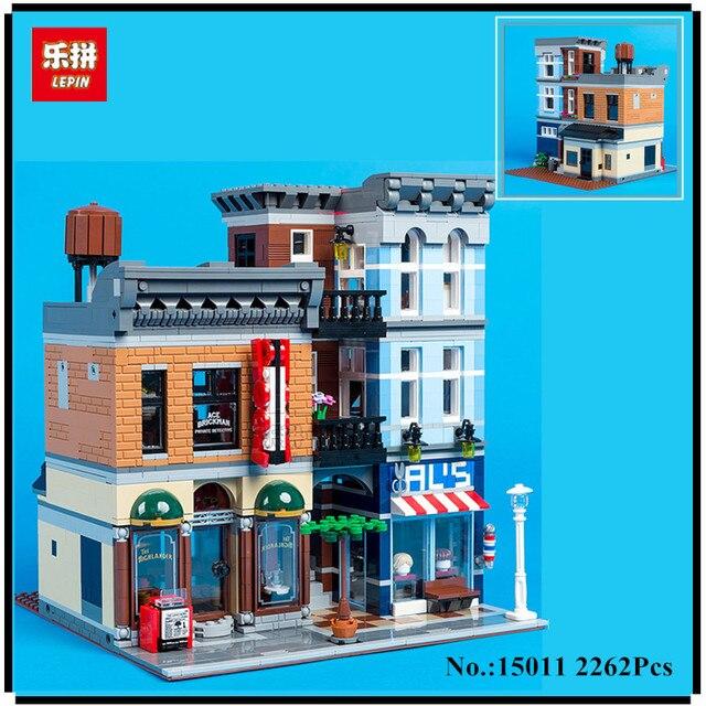 IN STOCK Lepin 15011 2262Pcs Creator Expert City Street  Detective's office Avengers Set Assemble Building Blocks Children Toys