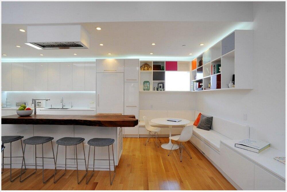 2017 Kitchen Furniture White Lacquer Modular Kitchen Cabinets Customized White Kitchen Unit Hot Sales