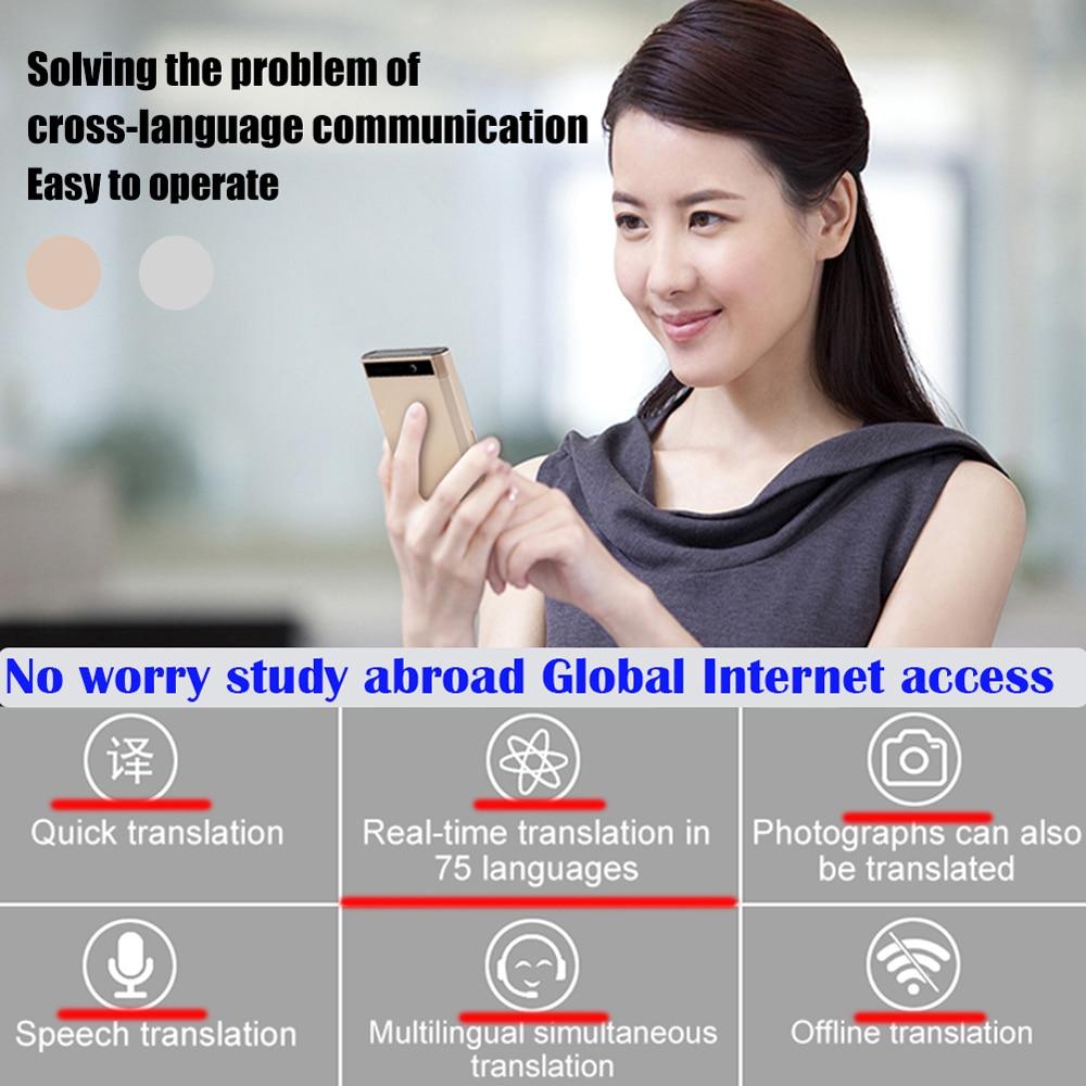 Multi Language Portable Smart Voice Language Translator Supports 107 Languages with Quad Core High Speed CPU 3