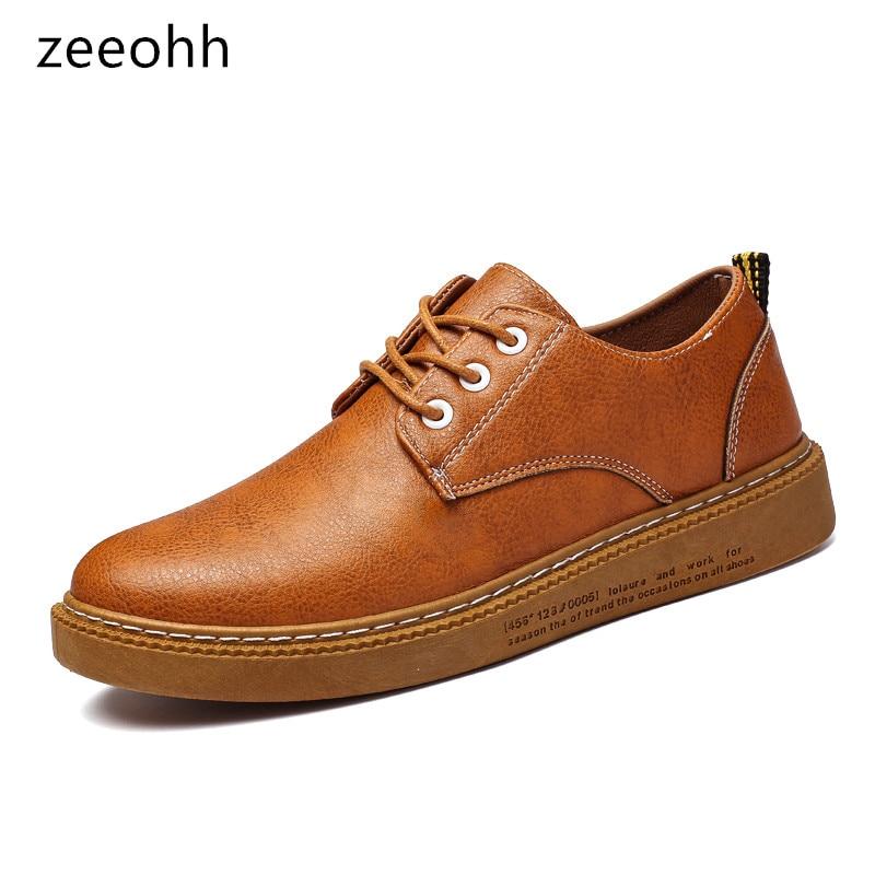High Botas Qualité Sapatos 2018 New Casual Brown Hommes Zeeohh marron black Up Sneakers Masculinos Top Marque Noir Haute Lace Chaussures Confortable WIzffPq