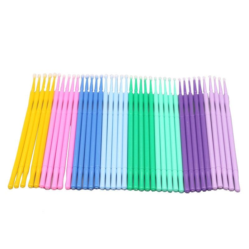 100 Pcs Disposable Eyelash Brushes Swab Individual Eyelashes Removing Tools Applicators Microbrushes Eyelash Extension Tools