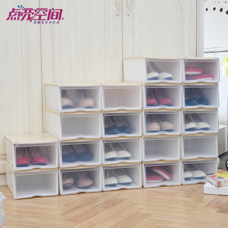 creative color container loading clamshell shoebox six. Black Bedroom Furniture Sets. Home Design Ideas