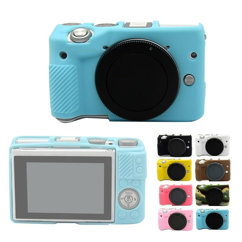 Soft Silicone Camera Case Cover Rubber Protective Skin Bag for Canon EOS  M3
