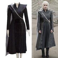 Game of Thrones Season 7 Daenerys Targaryen Cosplay Costume Mother of Dragons Queen Cloak Dress Outwear