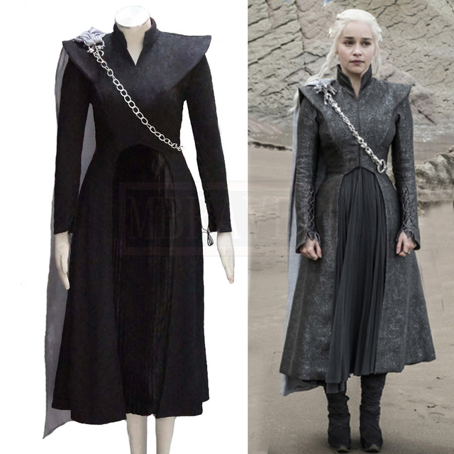 f0733db14 Game Of Thrones Season 7 Daenerys Targaryen Cosplay Costume Mother Of  Dragons Queen Cloak Dress Outwear Sc 1 St AliExpress.com