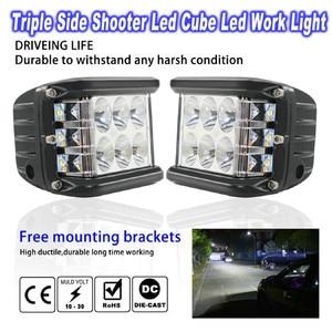 Image 3 - Новый светодиодный светильник для автомобилей 45 Вт Светодиодный светильник рабочий прожектор комбинированный боковой шутер для вождения внедорожников автомобильный трактор Luces светодиодный Para Auto