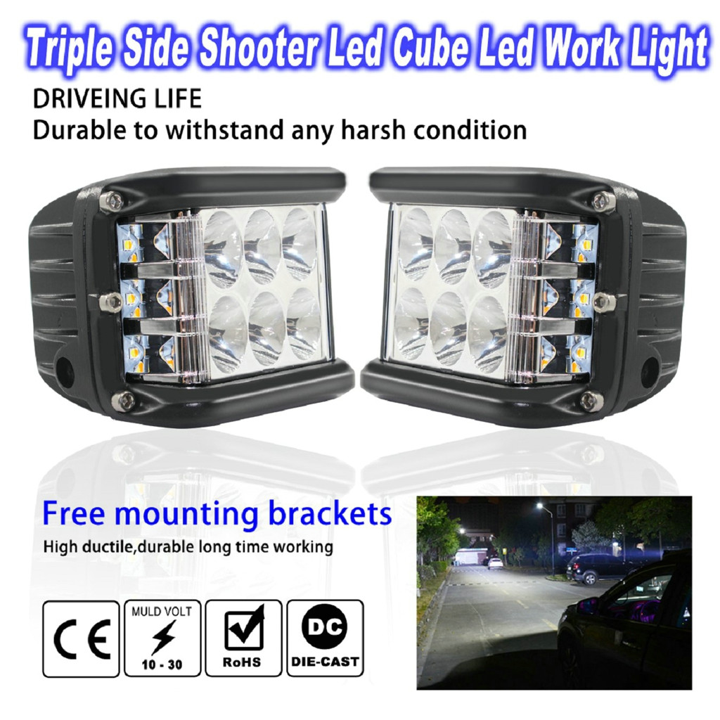 Image 3 - New LED Lamps For Cars 45W LED Light Work Flood Combo Side Shooter Driving Off Road SUV Car Tractor Luces Led Para Auto-in Light Bar/Work Light from Automobiles & Motorcycles