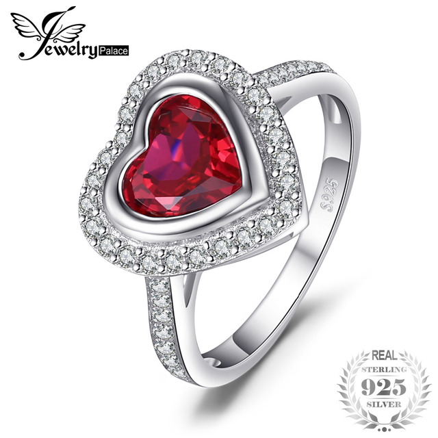 JewelryPalace Retro 0.43ct Created Ruby Pendant Statement Ring 925 Sterling Silver XzE8FTFp9R