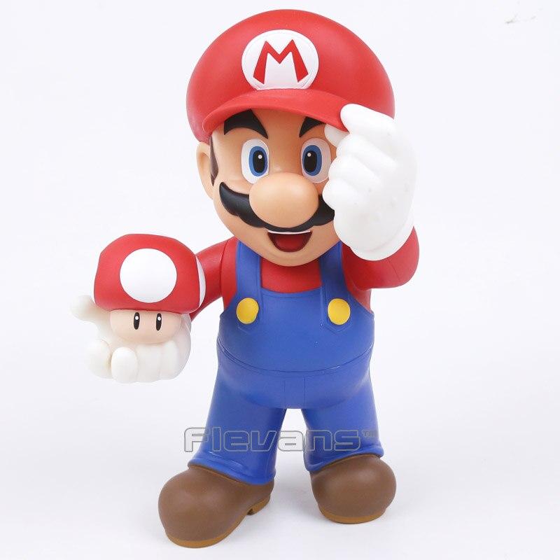 Super Mario Bros Mario avec crapaud champignon figurine à collectionner modèle jouet enfants jouets noël cadeaux d'anniversaire 30 cm