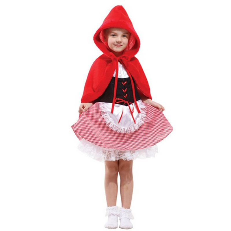 Hot Sale Halloween Costume For Kids Little Red Riding Hood Childrens Fancy Dress Sexy -2722