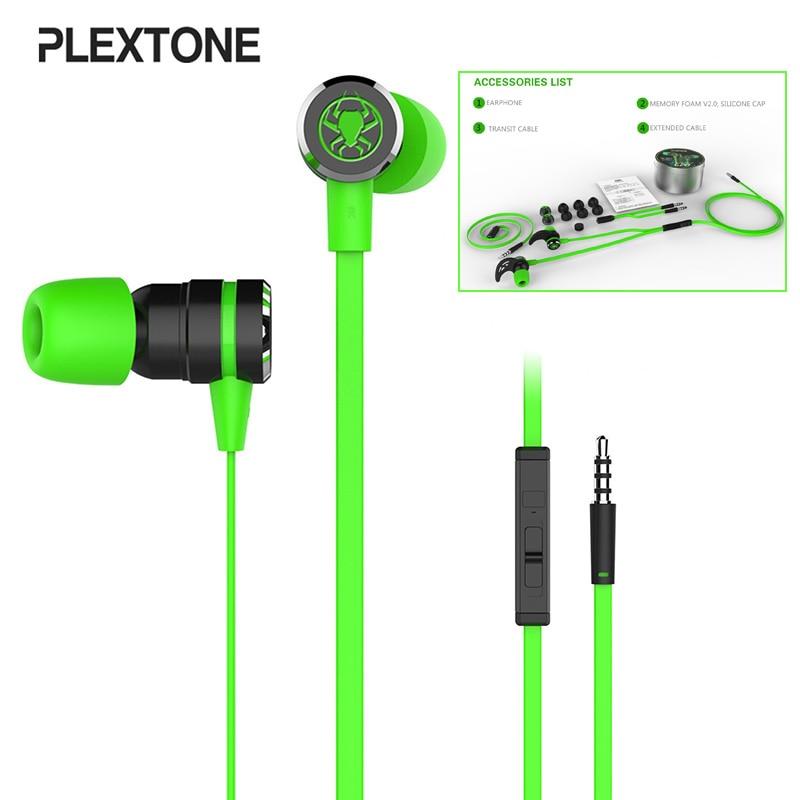 Plextone G20 juegos auriculares magnético estéreo doble Bass auriculares conectores de 3,5mm Cable de 2,2 metros de espuma de memoria para PC y teléfono