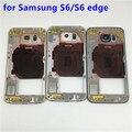 Новый Оригинальный Ближний Шасси Для Samsung GALAXY S6 G920 S6 edge G925 Вернуться Ближний Рама Задняя Крышка Корпуса детали на замену