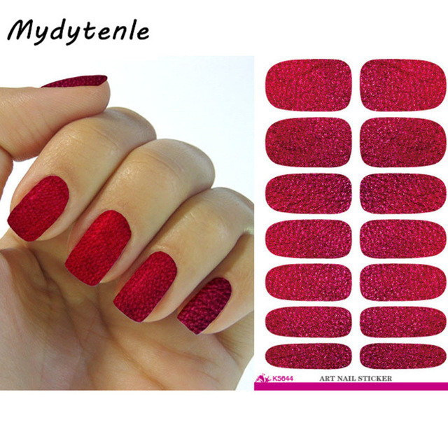 Mydytenle Water Transfer Foil Nails Art Sticker Mystery Red Blood Design Manicure Decor Fashion Nail Wraps