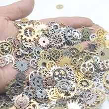 100g Steampunk Zinc Alloy Gears Charm European pendant fit for Bracelets Necklace DIY Metal Jewelry Making feng0022