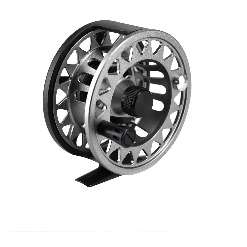 2019 nouveau 100% moulinet en Aluminium moulé sous pression 5/6 7/8 CF grande bobine de pêche à la mouche en Aluminium 2 + 1BB 1:1 moulinet de pêche changé à la main