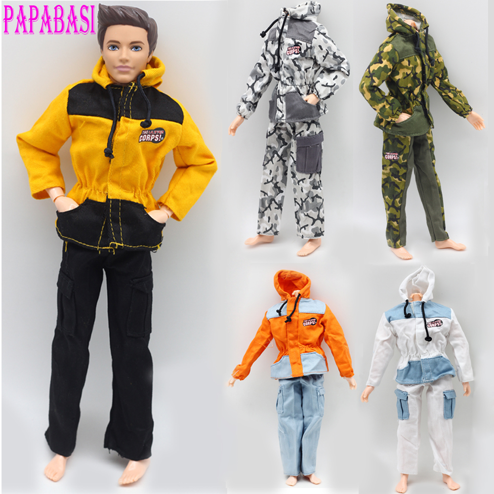 1pcs Doll Prince Clothes For Barbie Dolls Partisan Combat Uniform Outfit For Lanard 1/6 Soldier Best Gift 30 new styles festival gifts top trousers lifestyle suit casual clothes trousers for barbie doll 1 6 bbi00636