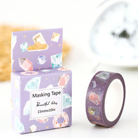 1.5cm 10m 2pcs diamond design washi tape Adhesive DIY Scrapbook Sticker Label Masking home decor