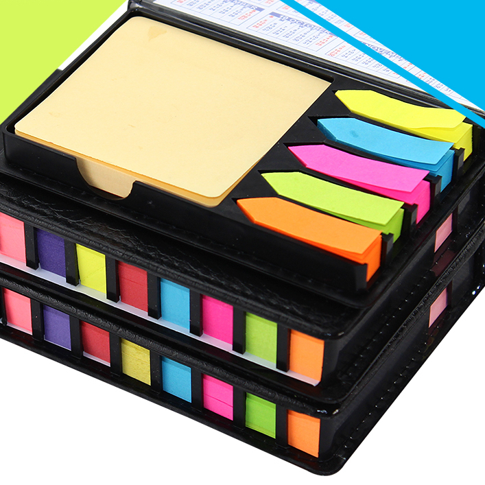 NEW Fashion Leather Box Memo Pad DIY Cute Kawaii Colored Paper Sticky Note Sticker Creative Gift Novelty Items Free shipping0219 carton cute kawaii animal computer screen message board with scale for memo pad acrylic sticky note board office supplies