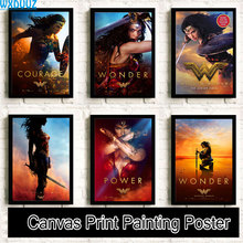 Wonder Woman Painting Movie Reying quality living Art Decor posters Home Decor posters canvas painting No Frame K51(China)
