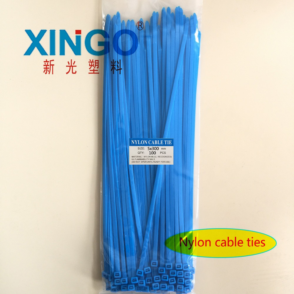 Nylon Cable Ties 100Pcs/pack 5*300mm High Quality width 3.6mm BLUE Color  Self-locking Plastic,Wire Zip TieNylon Cable Ties 100Pcs/pack 5*300mm High Quality width 3.6mm BLUE Color  Self-locking Plastic,Wire Zip Tie