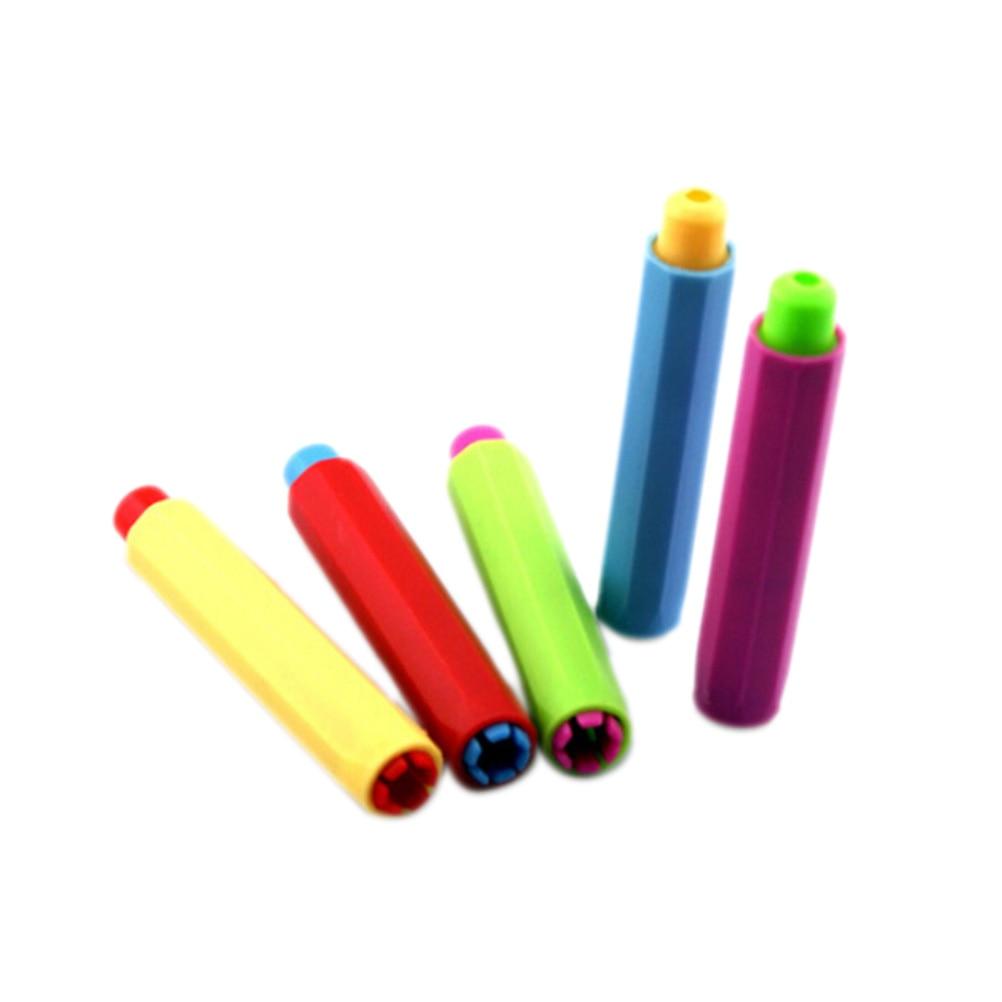 5PCS Dustless Chalk Holders Holder Pen Porta Tiza Chalk Clip Non Dust Clean Teaching On Chalkboard Wall Sticker School Supplies