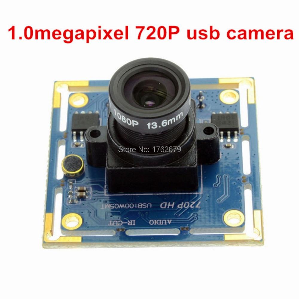 1MP Ominivision OV9712 CCTV UVC Black and white monochrome security camera module 720P hd usb video camera board стоимость