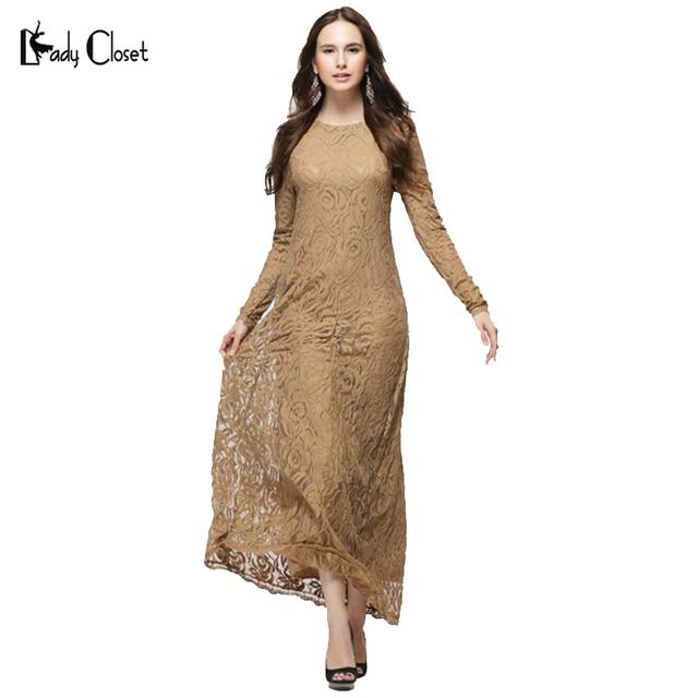 Оптовая мусульманин Абая платье турецкие женской одежды исламской полное кружева абая мусульманского платье longos одежда хиджаб дубай кафтан